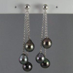boucles d'oreille perle de tahiti
